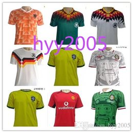 Wholesale Drawstring Top - Top quality Retro 1988 World Cup champion Netherlands Soccer Jersey 1988 Holland Retro 04 05 Real Madrid MEXICO 1998 soccer jersey