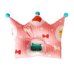 Formes plates en Ligne-La forme mignonne de couronne formant l'oreiller de coton d'oreiller empêchent la tête plate bébé nourrisson nouveau-né la tête positionneur