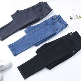 f6bb620490785 Autumn New Women Jeans Big Elastic Pencil Pants High Waist Solid Color Small  Feet Skinny Was Thin Spring Mujer Trousers MZ3224