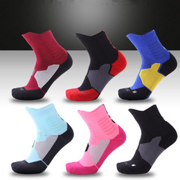 Wholesale compression cycling shorts - New Elite Professional Basketball Socks Men Short Crew Towel Bottom Sock Male Compression Short Tube Socks Breathable Thickening Sox