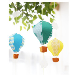 Wholesale ceiling decorations for parties - Hanging Hot Air Balloon Cloud Decoration Showcase Ceiling Paper Lanterns for Home Kindergarten Party Wedding