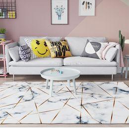 tappeti intrecciati all'ingrosso Sconti Geometric Griotte Large Carpet per soggiorno Camera da letto Study Room Tapis Tappetino antiscivolo per sedie Tappetini per soggiorno