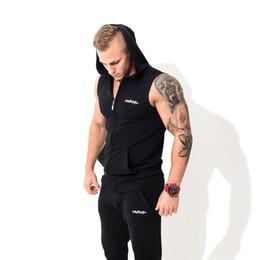 Muscle fitness hommes gilet de sport veste de sport vêtements en plein air frère de formation cap sans manches gilet pur coton en vrac respirant ? partir de fabricateur