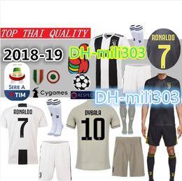best loved a5aef 5e2ac ronaldo fußball trikots Rabatt 18 19 Juventus Soccer Trikot Kit 2018 2019  Juve 7 RONALDO 9