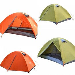 Wholesale braces suit - Outdoor Camping Double Deck Tent Suits Anti Rainstorm And Sun Protection Multitasking Field Shelters Sets Outdoors Sunshade Tool 105ty X