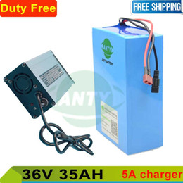 Wholesale Electric Bicycle Bike Motor Kit - Electric bicycle battery 36v 35ah 1000w lithium battery 36v with 5A charger for e bike scooter kit motor Duty   shipping free