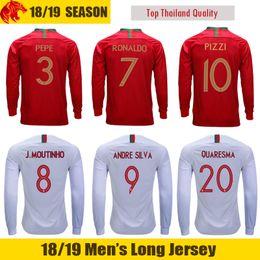5d06df4ac0 camisa de futebol portugal Desconto 2018 Copa do Mundo Portugal Longa Manga  Camisas de Futebol 18