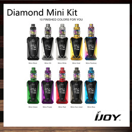 Tappare la vite online-Kit mini Diamond iJoy con 4ml Baby Tank Diamond 225W Mini Box Diamond MOD Fast Screw-cap-tap Filling Design 100% originale