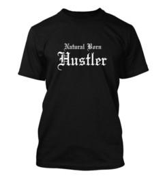 Natural Born Hustler #253-мужская футболка-смешной юмор комедия покер игрок печати с коротким рукавом мужская рубашка О-образным вырезом 100% хлопок повседневная от