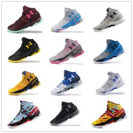 Wholesale Athletic Greens - Under Armour Curry 2 Two BHM Sport Men Basketball Shoes Final Curry On Foot Outdoor Athletic Cushion Sneakers