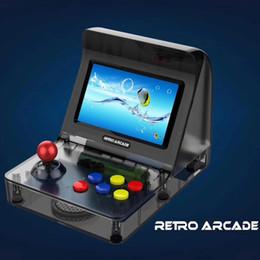 Nueva RETRO ARCADE Mini Consola de Juegos Portátil de 16GB 4.3 pulgadas 64bit puede almacenar 3000 Juegos Consola de Juegos Familiar con caja al por menor Venta caliente desde fabricantes