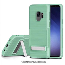 Wholesale armor back - Armor Case Drawing tpu with kickstand feature tpu back cover case for samsung galaxy s9 s7 s8 plus iphone X 8 note 8