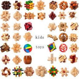 En bois QI Casse-tête Kong Ming Luban Verrouiller 3D Puzzle interverrouillé Puzzle Cube Enfants Childs Jouet Cadeau Nouveauté Articles GGA1277 300pcs ? partir de fabricateur