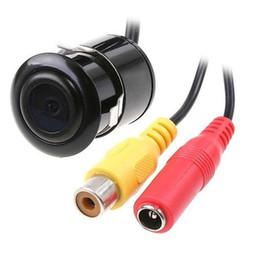 2019 le luci citroen c4 hanno condotto le luci 18.5mm Telecamera per retrovisione impermeabile per auto Telecamera posteriore per auto Reverse Backup HD CCD Telecamera per display a colori NTSC / PAL con foro sega