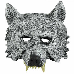face mask animal for kid Promo Codes - Fun Animal Full Face Wolf Masks for Kids Adult Halloween Masquerade Party Masks Costume Wolves Ball