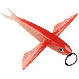 Cuerpos de señuelos de agua salada online-18 cm 20 cm 23 cm pesca con mosca grandes señuelos de pescado suaves alas del cuerpo peces cebos de pesca Trolling señuelos de pesca para el agua salada Tuan