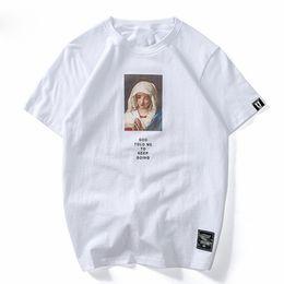 T-shirt Streetwear Mary imprimé à manches courtes T-shirt été coton occasionnel Hip Hop Tops Tees Swag été T-shirts ? partir de fabricateur