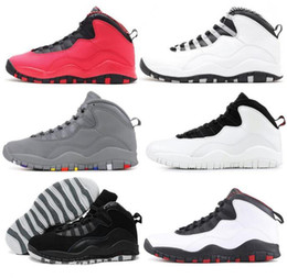 51518f1a1c3e46 Hohe Qualität 10 10er Stahl Ich bin zurück cool grau Fusion rot Männer  Basketball-Schuhe Chicago Bulls schwarz weiße Turnschuhe neu mit  Schuhkarton günstige ...