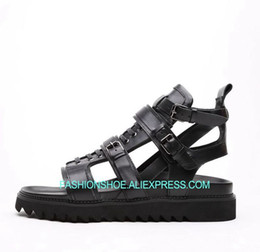 9163f292d313c Men Sandals Summer Hot 2018 High platform Leisure Gladiators Mens Shoes  British Style Black Sandalias