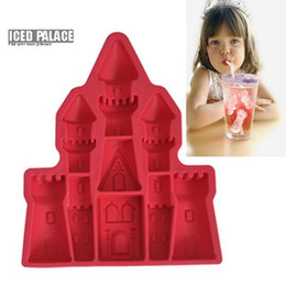 Wholesale Ice Maker Factory - 3D Ice Cube Tray Factory Wholesale Fashion Idea Princess Castle Shape Candy Jelly Ice Cake Silicone Mould Ice Cream Maker