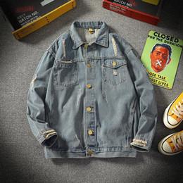 jeans moderni per gli uomini Sconti Vendita calda di grandi dimensioni Uomini moderni Chaqueta Giacche di jeans di alta qualità Slim Casual Street Wear autunno Cappotti di colore solido con 95% di cotone