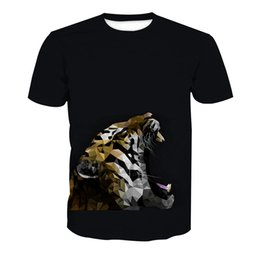 t shirts men full print Coupons - Men T-shirt Tiger Head 3D Full Print Man Casual Tops Unisex Short Sleeves Digital Graphic Tee Shirt Tees T-Shirts Blouse (RLT-4004)