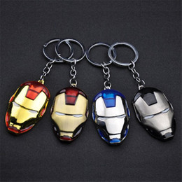 Wholesale Mask Avengers - Hot Sale Iron Man Mask Keychain The Avengers Alloy Car Key Chain Key Rings Movie Jewelry For Gift