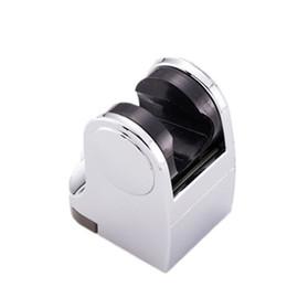 Wholesale finish bath - new wall mounted ABS Chrome Finish Swivel Handheld Shower Holder Shower Head Seat Rack Bathroom Parts Bath Accessories