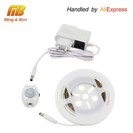 Wholesale Lighting Strips Motion Sensors - Wholesale-[MingBen] Motion Activated LED Sensor Strip Waterproof IP66 Digital Bed-lighting Acttivated Illumination With Body Sensor 1.2M