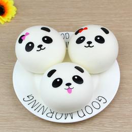Handy-paarung online-Freies Verschiffen Nettes 4cm Panda Squishy Kawaii Brötchen Brot bezaubert Beutel / Schlüssel / Handy-Bügel-Paar Gelegentliches weiches Panda Squishy Brot Seml 100pcs