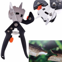 Wholesale grafting tools professional - Multi Function Garden Shears Labor Saving Fruit Bonsai Tree Secateurs Pruners With Safety Professional Grafting Tool BBA16