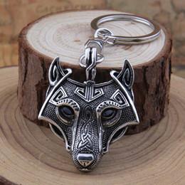Llavero de bronce online-4Colors Yage 1pcs Talisman nórdica Espada Vikinga amuleto Llavero antiguo pendiente de plata antiguo de bronce de cobre Negro