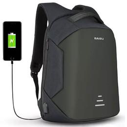 Mejores mochilas al aire libre online-La mejor calidad antirrobo mochila de viaje con carga USB Mochilas para portátiles Mochilas escolares impermeables Bolsas al aire libre