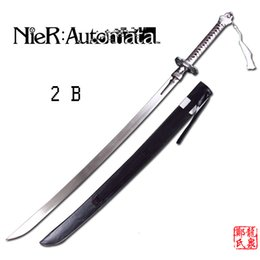 2019 scultura di piombo Game NieR: Automata 2B Sword / 9S's Real Stainless Steel Blade Lega di zinco Cosplay Prop Brand New Blunt Decorative Supply