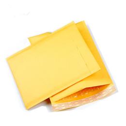 sacchetto di imballaggio di natale dell'alimento Sconti Busta della bolla della busta della carta kraft della busta della bolla di giallo 10pcs bolla 11 * 13cm sacchetti di Kraft che spediscono il sacchetto di trasporto