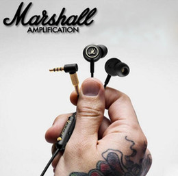 Wholesale Wireless Pc Headset Mic Stereo - Marshall Mode Stereo Earphone with Mic Earbuds Sports In-ear Headphones Hifi Universal Headset for Mobil Phone PC Laptop Computer
