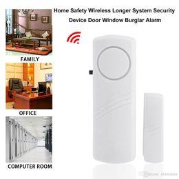 sensor de alambre de alarma de puerta Rebajas Sistema de Seguridad de la Oficina Doméstica Sistema de Seguridad Inalámbrico Más Largo Ventana de Puerta Alarma Antirrobo