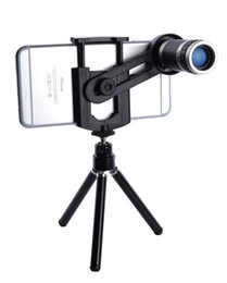 Wholesale 8x zoom mobile phone telescope - Universal Mobile Phone Lens 8X Zoom Telescope Telephoto For Iphone8 7 6 5s Samsung S6 S5 HTC LG Moto Phone Tripod