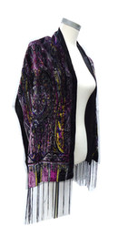 Wholesale Wholesale Velvet Shawls - Small Size Purple Queen Crown Velvet Scarf Women Black Scarf US Euro Hot Headscarf Shawl Fashion 2018 Dress Accessory For Ladys