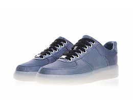 Wholesale men clothing shoes - YOSOU Clothing Classical Forced One All-match Skateboard Shoes Nice Blue Silk Sports Sneakers Men Women Casual Shoes A+ Quality