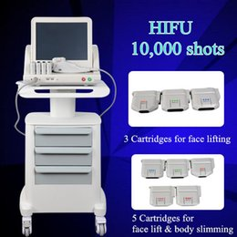 Wholesale machine trolley - 2018 newest high intensity focused ultrasound HIFU without trolley 7Mhz and 4Mhz Remove neck wrinkles face lift machine