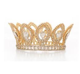 Baroque Reine Or De Mariage Couronne En Cristal Princesse Tiara Bandeaux pour Femmes Fête De Mariée Anniversaire Beatutiful Chapeaux ? partir de fabricateur