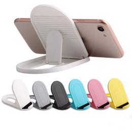 support pliable ipad Promotion Support de téléphone portable réglable pliable universel multi-angle Portable Holde téléphone pour iPhone X 8 Samsung Kindle iPad Smartphone Tablet STY064