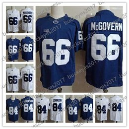 745ab28f3 Penn State Nittany Lions  66 Connor McGovern 84 Juwan Johnson Stitched Navy  Blue White No Name PSU NCAA Football Jerseys S-3XL