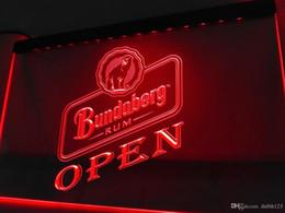 Wholesale Open Signs Light - LA071- OPEN Bundaberg rum LED Neon Light Sign