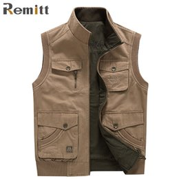Wholesale Military Overall Uniform - Men Overall Waistcoat Male Sleeveless Military Jacket 5XL 6XL 78XL Reversible Army Uniform Man Tactical Vest Working Clothes