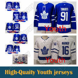 0973fbd2094 kid jersey Toronto Maple Leafs 16 Mitch Marner youth jersey 34 Auston  Matthews 31 Frederik Andersen 29 William Nylander Hockey Jerseys