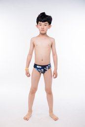 Wholesale Boys Swimming Briefs - Boys Professional Nylon Swimming Trunks Waterproof Sportswear Swimsuit High Elasticity Surfing Beach Swiming Briefs Bathing Suit