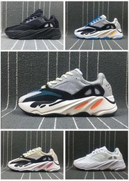 Wholesale Red Chalk - Wave Runner 700 Boost Kanye West Shoes Mens Women 700 Casual Shoe RunniGrey Causal Shoes Boost Mens Women Solid Grey Chalk White Core Black