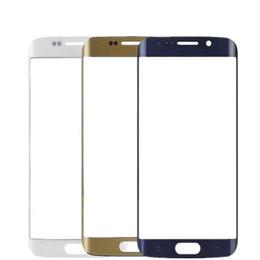 LCD передний сенсорный экран стеклянный внешний объектив для Samsung S6 Edge G925 G925F SM-G925 Запчасти Замена cheap samsung s6 parts от Поставщики samsung s6 части